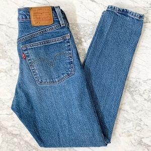 Levi's 501 Skinny High Rise Medium Wash Jeans 24